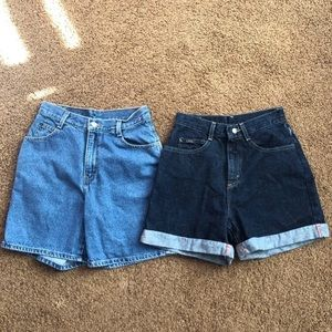 2 Pairs of Levi's Vintage High Waisted Mom Shorts